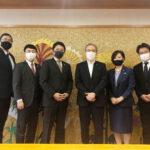 船橋市長をBNI千葉京葉の高山ディレクターが表敬訪問いたしました